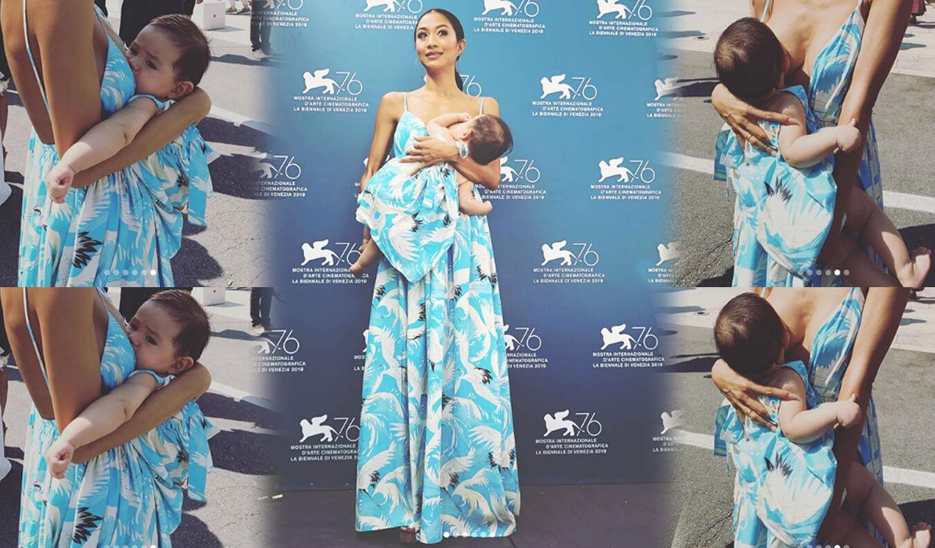 Θηλασμός στο κόκκινο χαλί του 76ου Φεστιβάλ Κινηματογράφου της Βενετίας